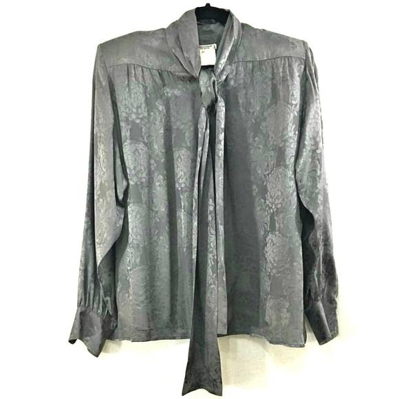 e09c3266 Vintage Saint Laurent pussy bow blouse 42 M silk. M_5ae3d79f45b30cd0405fba97